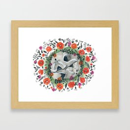 Foxes and Poppies Framed Art Print