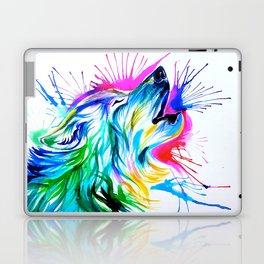 Howling Wolf Burst  Laptop & iPad Skin