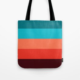 Exotic bright colorful Bohemian Chic teal burgundy Turquoise Orange Stripes Tote Bag