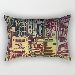 Where Are YOU -4 / Urban Density Rectangular Pillow
