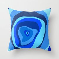 geode Throw Pillows featuring Geode by Sarah P