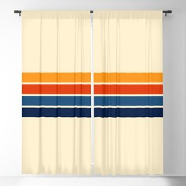 Classic Retro Stripes Blackout Curtain