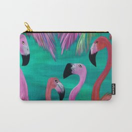 Love My Flamingos Carry-All Pouch