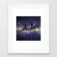 running Framed Art Prints featuring Running by Cs025