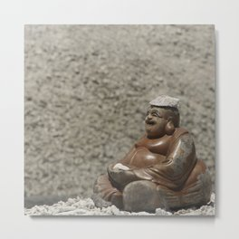 The Happy Buddha Metal Print