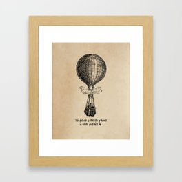 Jules Verne - The future is but the present Framed Art Print