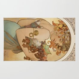 Vintage poster - Woman with fruit Rug