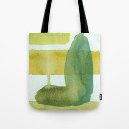 Green Stem Abstract Painting Tote Bag
