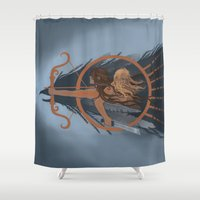 fili Shower Curtains featuring Warriors by MelColley