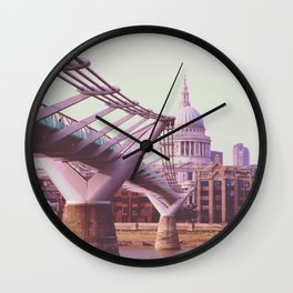 St. Pauls Cathedral and the River Wall Clock