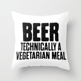 Beer Technically A Vegan Meal Throw Pillow