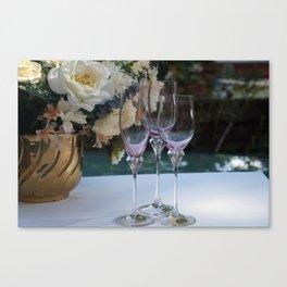 Vintage Mikasa Wine Glasses  Canvas Print