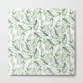 Autumn Walk Pattern Metal Print