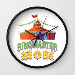 Ringmaster Mom Style2 Wall Clock