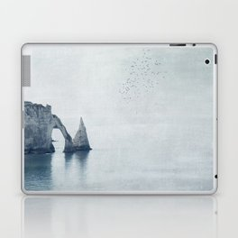 View of Chalk Cliffs Étretat-Normandy-France Laptop & iPad Skin