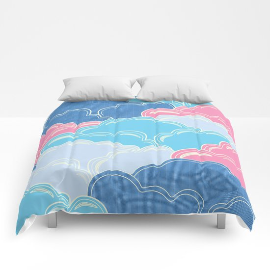 Pillows in the Sky (Clouds no.2) Comforters