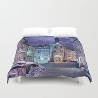 gotham Duvet Covers featuring Gotham by Robin Curtiss