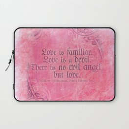 Love is a Devil - Shakespeare Love Quote Art Laptop Sleeve