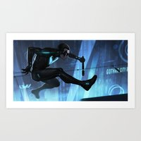 nightwing Art Prints featuring Nightwing Beyond by Yvan Quinet