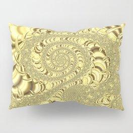 Golden Fractal Art Pillow Sham