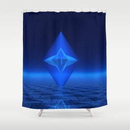 Blue Crystal Abstract Shower Curtain
