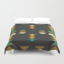 Bright shapes in the dark Duvet Cover