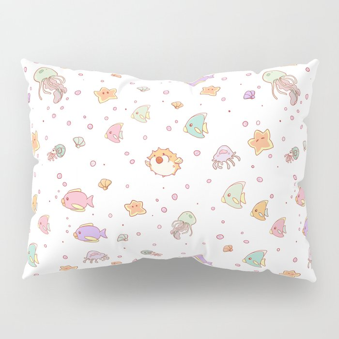 Cute sea creatures pattern Pillow Sham