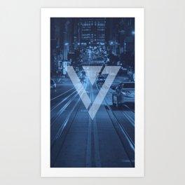 Seventeen Blue Logo Art Print