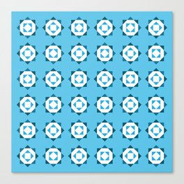 Maroccan Blue Stars Canvas Print