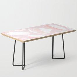 Brushstrokes Pattern Pink Coffee Table