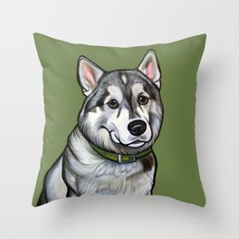 Aspen the Husky Throw Pillow