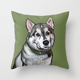 Aspen the Husky Throw Pillow