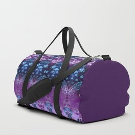 Hippy Blue and Lavender Duffle Bag