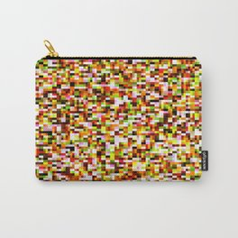 Red yellow pixel noise static pattern Carry-All Pouch