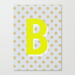 B is for Beautiful Canvas Print
