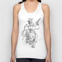 western Tank Tops featuring western rat by kasowy