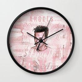 Robbie Angels Vintage Design In Pink Wall Clock