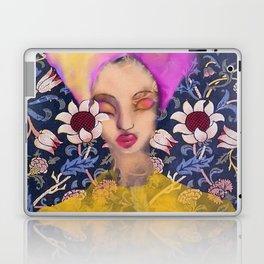 Enchanted Garden Romantic Floral Art Nouveau Watercolor Portrait Laptop & iPad Skin