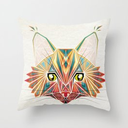 savage cat Throw Pillow