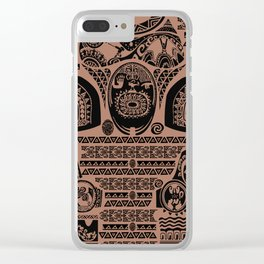 Maui Tattoos Inspired Moana Clear iPhone Case