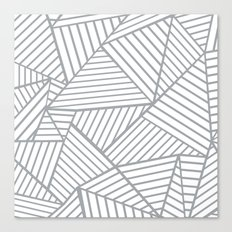 Abstraction Lines Zoom Grey Canvas Print
