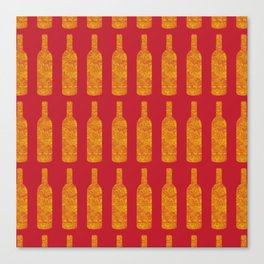 Wine Bottles Pattern Canvas Print
