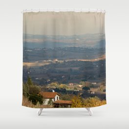 Sunset Italian countryside landscape view Shower Curtain