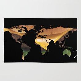 World Map Silhouette - Cheeseburger Rug