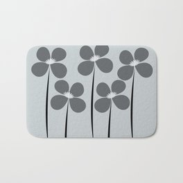 Abstract Night Flowers Bath Mat