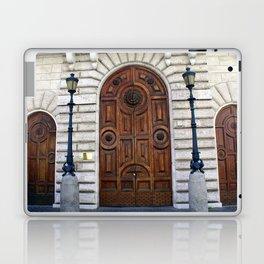 Natural Grain and Sunflower Door Trio Laptop & iPad Skin