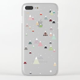 winter || in white Clear iPhone Case