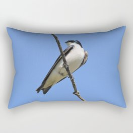 Handsome Male Tree Swallow on a Branch Rectangular Pillow