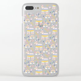 Llamas and Rainbows Summer Style Clear iPhone Case