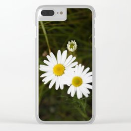 The Daisy In The Middle Clear iPhone Case